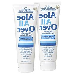 Aloe All Over Therapeutic Dry Skin Lotion 4 ounce tube, 2-Pa