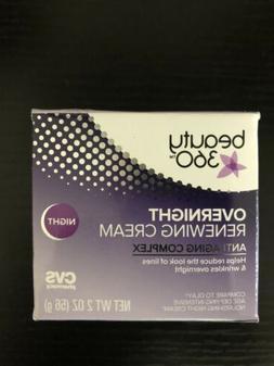 Beauty 360 Overnight Renewing Cream Anti Aging Complex Night