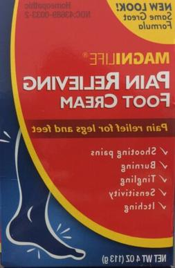 MagniLife Pain Relieving Foot Cream 4 oz Free Shipping!!