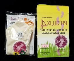 PEDILUX4 Deodorizing Foot Cream w/ Socks ~ Sealed Pkg ~ Stop