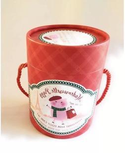 Mademoiselle Piggy Peppermint Bark Foot Care Set Socks Cream