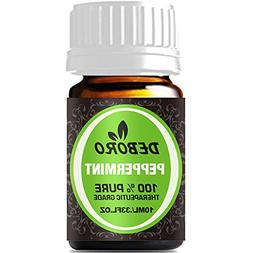 Peppermint Essential Oils - DEBORO 100% Pure Natural Undilut