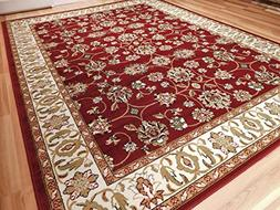 Large Persian Style Rugs Traditional Rug Burgandy 8 x 11 Red