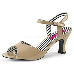 Pleaser Pink Label Women's Jenna09/Cr Dress Sandal, Cream Pa