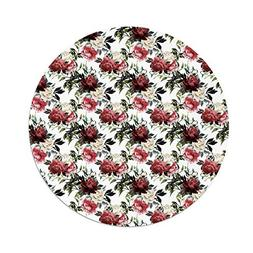 iPrint Polyester Round Tablecloth,Shabby Chic,Country Style