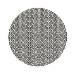 iPrint Polyester Round Tablecloth,Damask,Vintage Arabesque D