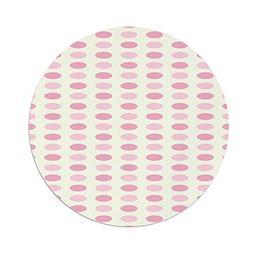 Polyester Round Tablecloth,Geometric,Romantic Pale Polka Dot