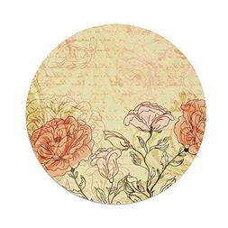iPrint Polyester Round Tablecloth,Vintage,Double Exposure Ba