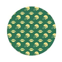 iPrint Polyester Round Tablecloth,American Football,Retro St
