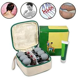 Portable Silicon Vacuo Cupping Cup Body Massage Therapy Alle