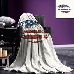 printing blanket grunge american flag