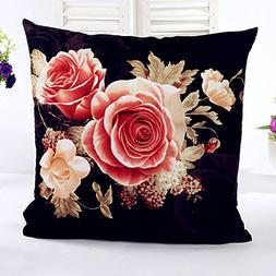YJYdada Printing Dyeing Peony Sofa Bed Home Decor Pillow Cas