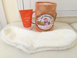 Mademoiselle Piggy Pumpkin Apple Foot Care Set Socks Cream M