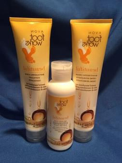 Rare Avon Foot Works Macadamia Nut ~ Scrub, Cream & Relaxing