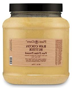 Raw Cocoa Butter 3 lb. 100% Pure Fresh Natural Cold Pressed.