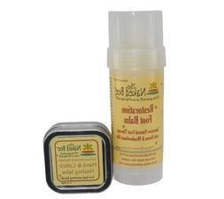 Naked Bee Restoration Foot Balm 2 Oz + Hand and Cuticle Heal