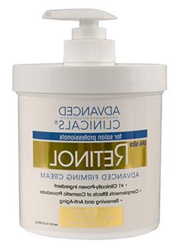 Advanced Clinicals Retinol Cream. Spa Size for Salon Profess