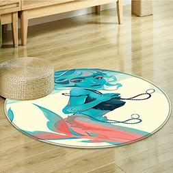 Round Rugs for Bedroom Portrait of Style with Jewelry and Ma