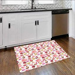 Rug Home, Office Cupcakes Macarons Teapot Cups Cherries Berr