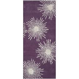 Safavieh Soho Collection SOH712P Handmade Fireworks Purple a