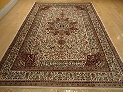 Silk Ivory Rugs Persian Tabriz Rug 7x10 Living Room Rugs Tra