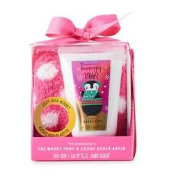 Simplepleasures Peppermint Swirl Scented Foot Cream + Pink P