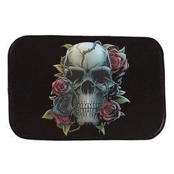 GVGs Shop 1 Piece Skull Rose Rug Carpet Bath Mats Baby Anti