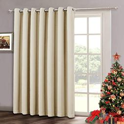 Sliding Door Curtain Drapes - Room Darkening Light Blocking
