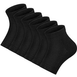 Bememo Soft Ventilate Gel Heel Socks Open Toe Socks for Dry