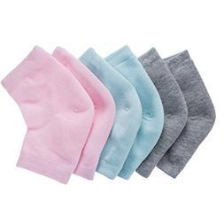 Bememo Soft Ventilate Gel Heel Socks Open Toe Socks for Dry