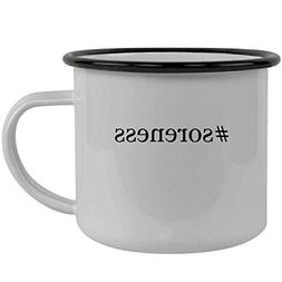 #soreness - Stainless Steel Hashtag 12oz Camping Mug