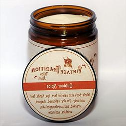 Vintage Tradition Outdoor Spice Tallow Balm, 100% Grass-Fed,