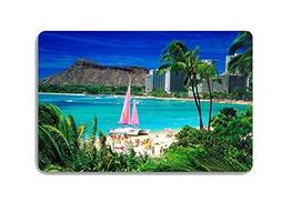Summer Hawaii Holiday Vacation Palm Trees Doormat Entrance M