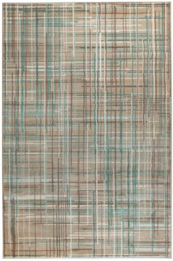 Summit 102 Beige Teal Cream Area Rug Modern Abstract Rug 5x7