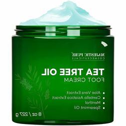 Majestic Pure Tea Tree Foot Cream -Fights Fungus, Softens an