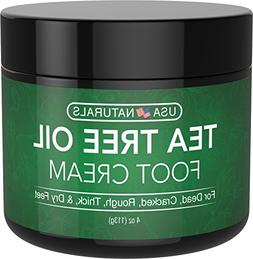 Tea Tree Oil Foot Cream - Instantly Hydrates and Moisturizes