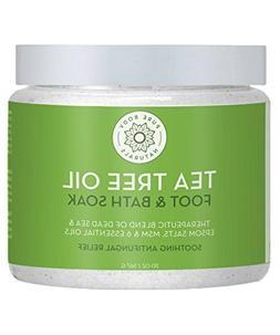 Tea Tree Oil Foot Soak, 100% Natural with Epsom and Dead Sea