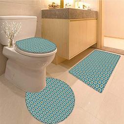 MikiDa 3 Piece Toilet lid cover mat set Ten Romance Ritual