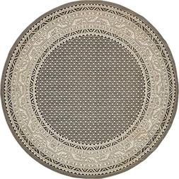 A2Z Rug Traditional Caen Collection Rugs Gray 8' -Feet-Round