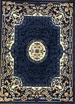 Carpet King Traditional Persian Area Rug Navy Blue Design 10