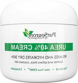 PurSources Urea 40% Foot Cream 4 oz - Best Callus Remover -