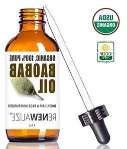 USDA CERTIFIED ORGANIC BAOBAB OIL - in 4 oz Dark Glass Bottl