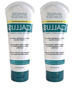 Value Pack of 2 Advanced Clinicals 8oz Callus Cream. Best Fo