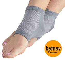 NatraCure Vented Moisturizing Gel Heel Sleeves  - Size: Larg