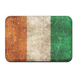 Titan's Mother Vintage Aged And Scratched Irish Flag Doormat
