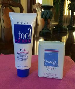 AVON ~ Vintage Foot Works Foot Cream W/AHA & Fancy Feet Pumi