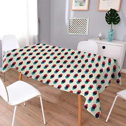 Anmaseven Vintage Oblong Dinning Tabletop Decor Geometric Re