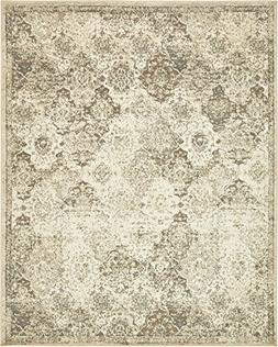 Vintage Traditional Overdyed Beige 8' x 10'-Feet St. Johns C