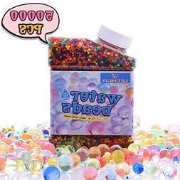 Water Beads for Kids Sensory Play, LEEHUR Non-Toxic 50000 Pc