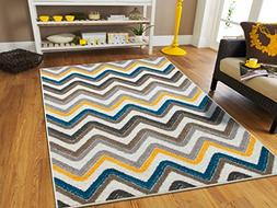 New Fashion ZigZag Style Large Area Rugs 8x11 Clearance Unde